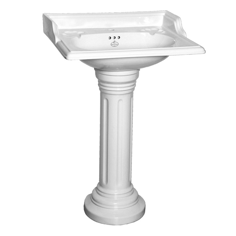 Oxford Basin With Fluted Pedestal