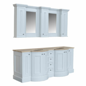 Holton Twin Vanity With Cabinets