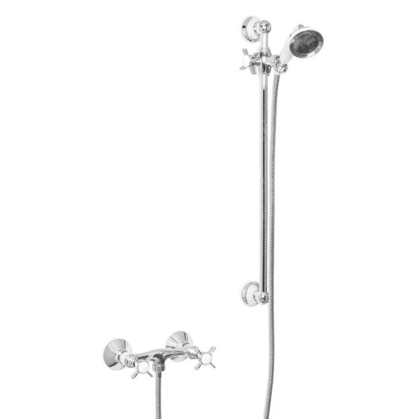 Manual Shower Mixer With Handset On Sliding Rail