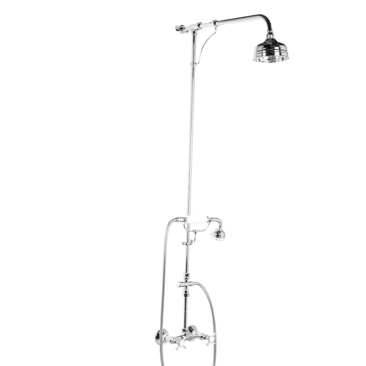 Manual Shower Mixer With Handset On Craddle